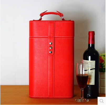 LEATHER WINE BOX - EnoGeeks