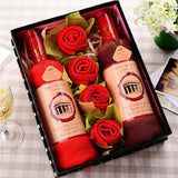 WINE BOTTLE SHAPE TOWEL GIFT BOX - EnoGeeks