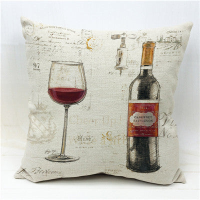 FRENCH WINE CUSHION COVER - EnoGeeks