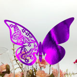 WINE GLASS PAPER BUTTERFLY - 50 PIECES - EnoGeeks