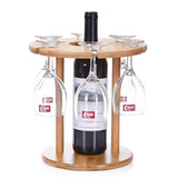 BAMBOO WINE AND GLASS HOLDER - EnoGeeks