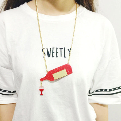 POURING WINE NECKLACE - EnoGeeks