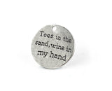 TOES IN THE SAND WINE IN MY HAND | CHARM | 20 PIECES - EnoGeeks