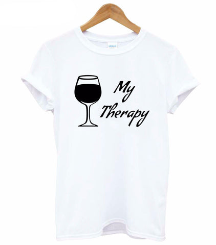 MY THERAPY WINE T-SHIRT - EnoGeeks