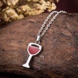 WINE GLASS NECKLACE - EnoGeeks