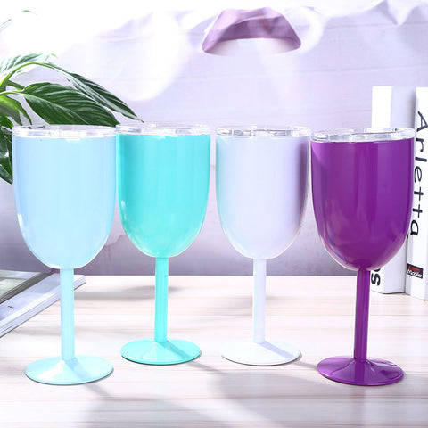 STAINLESS STEEL INSULATED WINE GLASSES