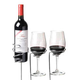 Outdoor Wine Glass & Bottle Holder