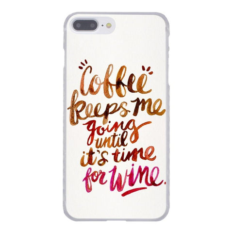 COFFEE & WINE HARDCASE FOR IPHONE