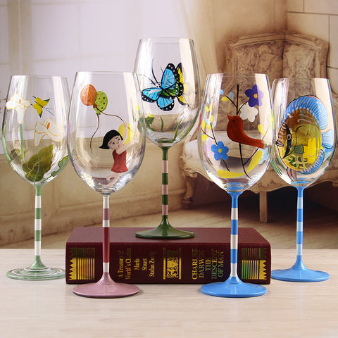 HAND PAINTED WINE GLASS - EnoGeeks