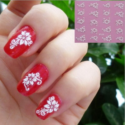 Top Fashion 3d Nail Art Stickers Xf132 20 Designs To Choose