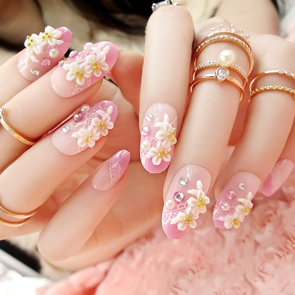 Deco Nails Are An Adorable Style Of Fake Nail Where Tiny 3D Shapes Glued On Top The Surface Most Often Theyre Super Cute Mini Flowers