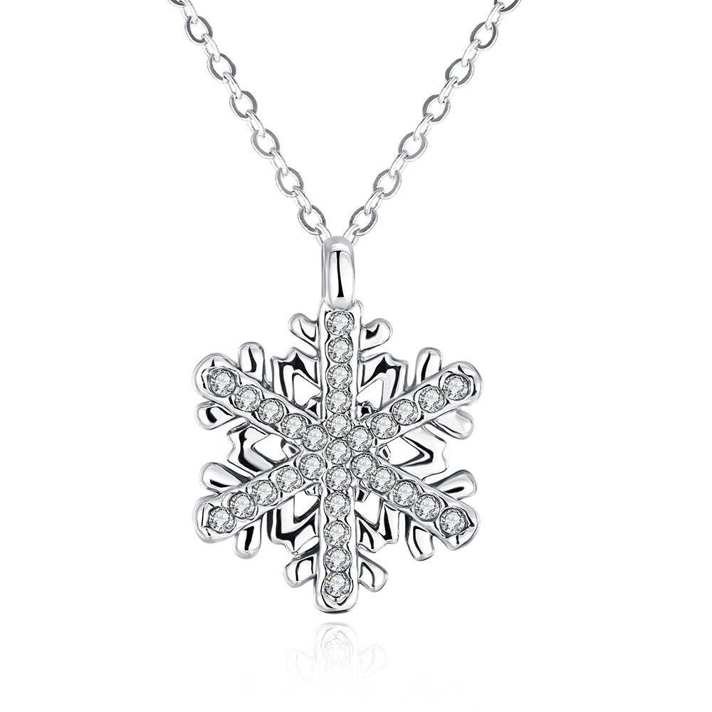 Fashion Diamond Snow Pendant Necklace, LKN021
