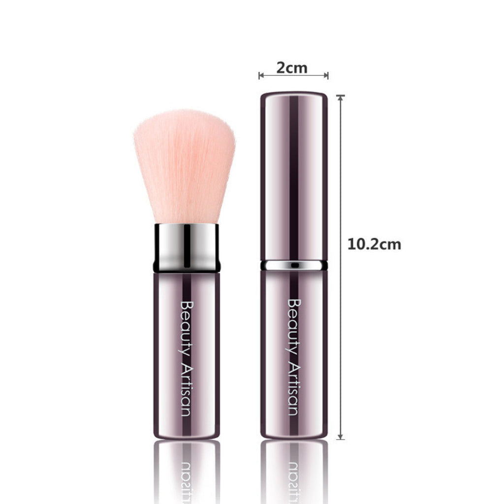 Multifunction portable brush Round & Oblique Head, 2 Colors to Choose. Facial Makeup Brush, BA001