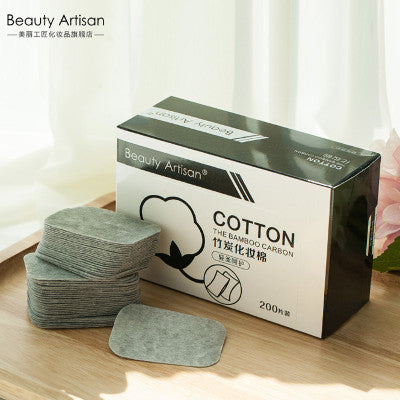 Bamboo Carbon Cotton Pad, Cleansing Cotton Pad, Super Cleaning. BA017