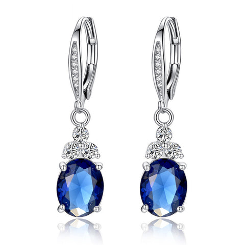 Blue gemstone earrings, BME010