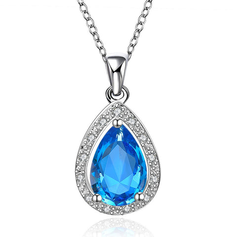 Fashion Gemstone Pendant Crystal Necklace, LKN013