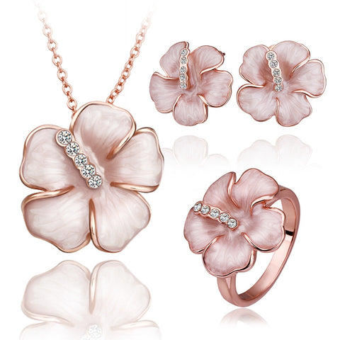 18K rose gold necklace sets, LKN009