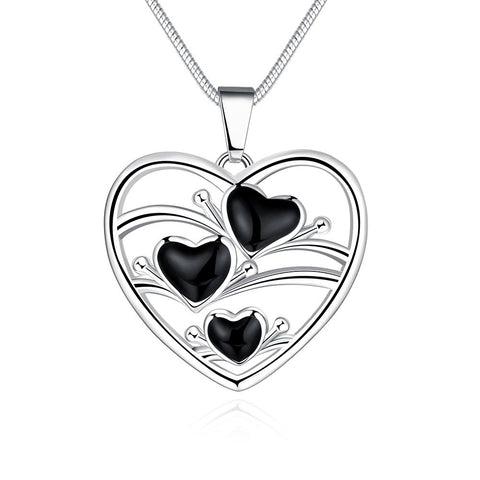 Heart Pendant Necklace, LKN023