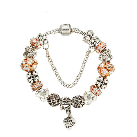 Fashion gold-plated diamond beads bracelet,PA015