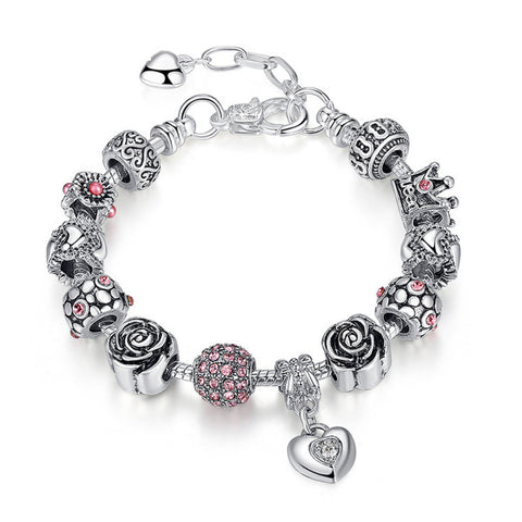 Round buckle popular jewelry heart-shaped bracelet, PA038