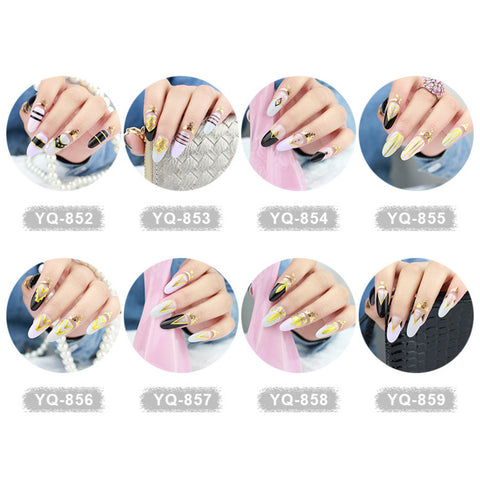 Beautiful Bronzing Nail Wraps, 16 designs to choose, RC003