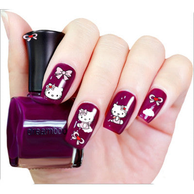 Top Fashion 3D Nail Art Stickers, XF315, 6 designs to choose