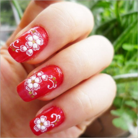 Top Fashion 3D Nail Art Stickers, XF718, 10+ designs to choose