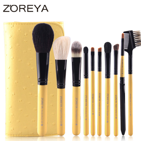 10PCS Animal hair makeup brush set, ZY003