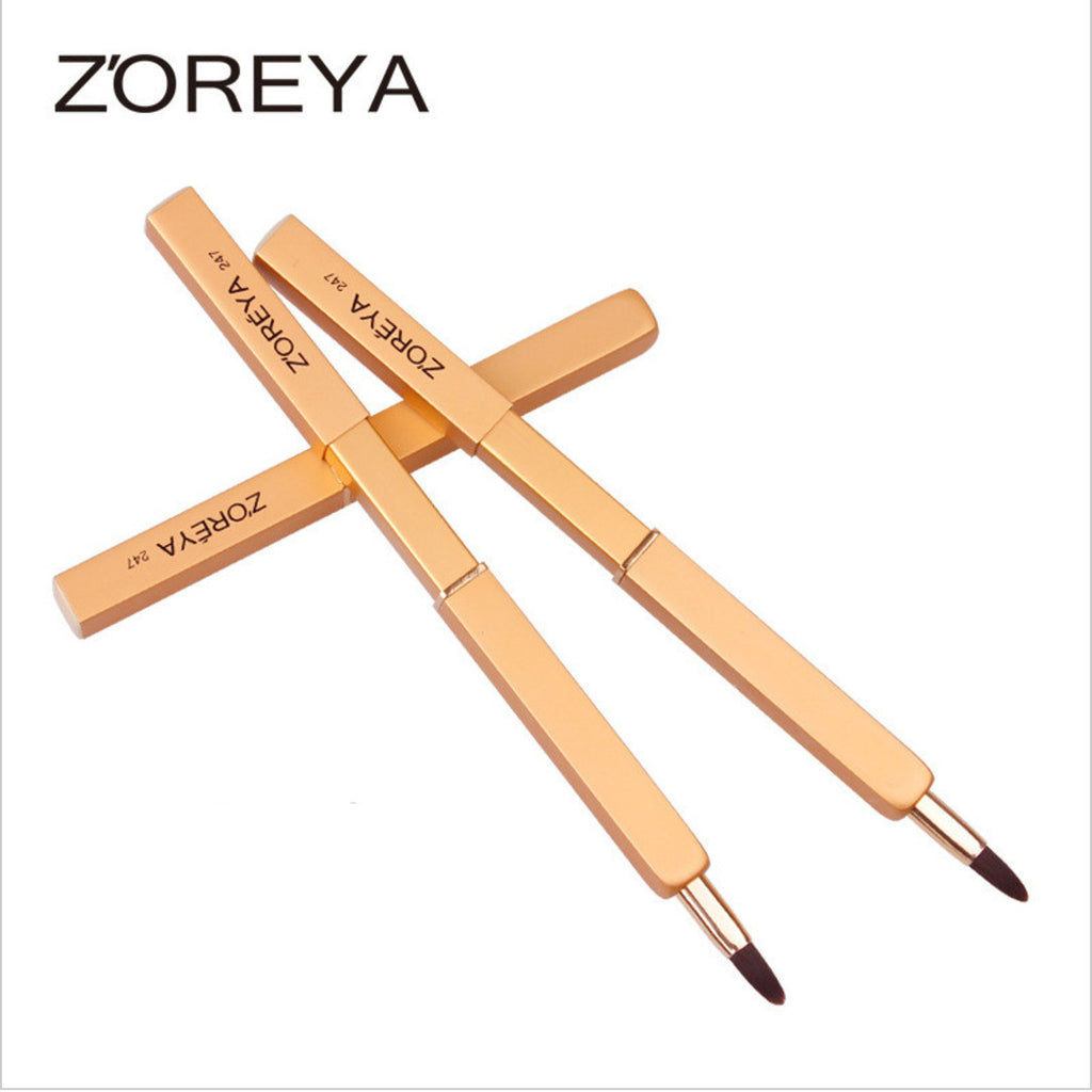 Retractable Lip Brush High Quality makeup brushes for Lip gloss And Lipstick As Adjustable Makeup Tool, ZY004