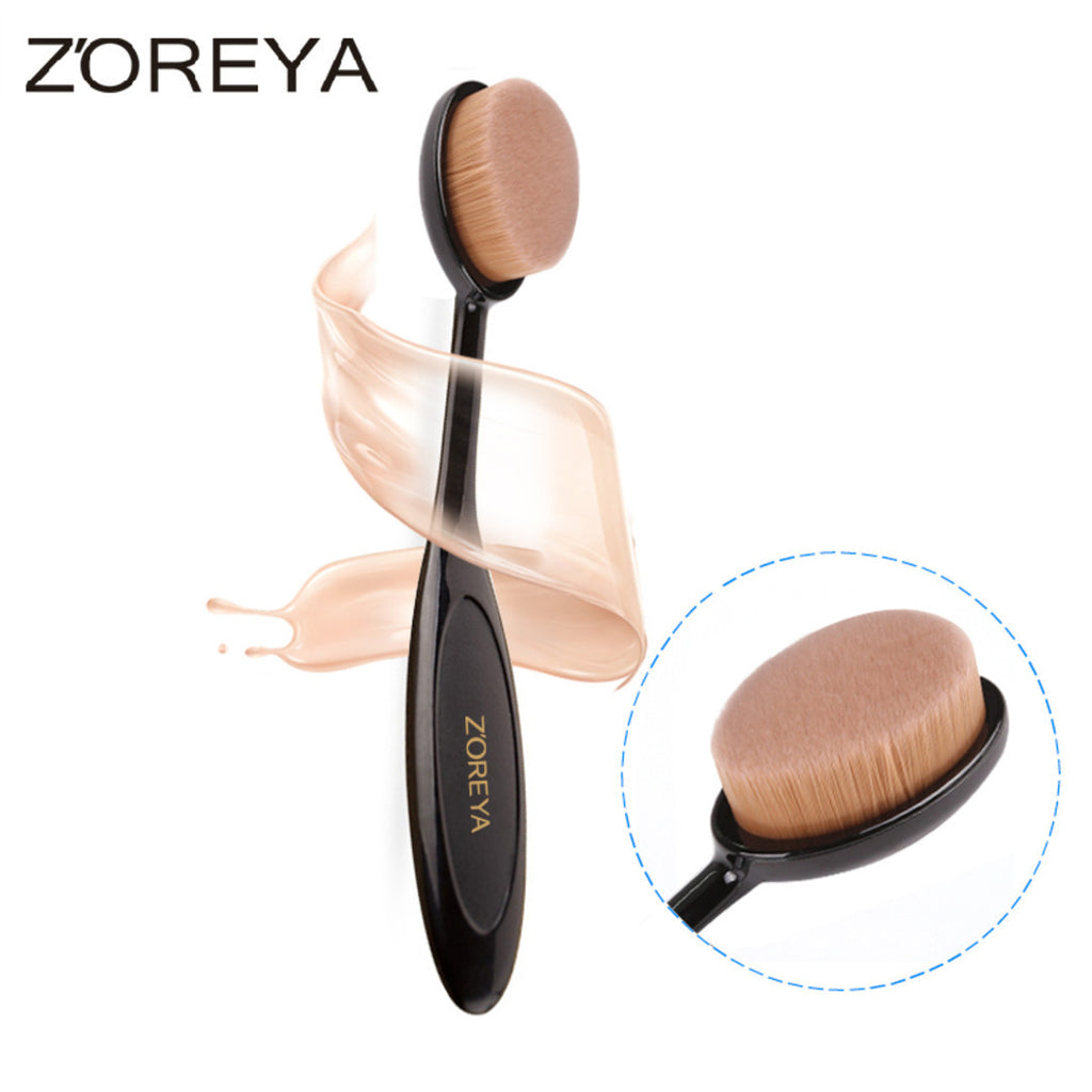 Cosmetic Cream Powder Blush Toothbrush Makeup Brush Oval Makeup Brush, ZY005