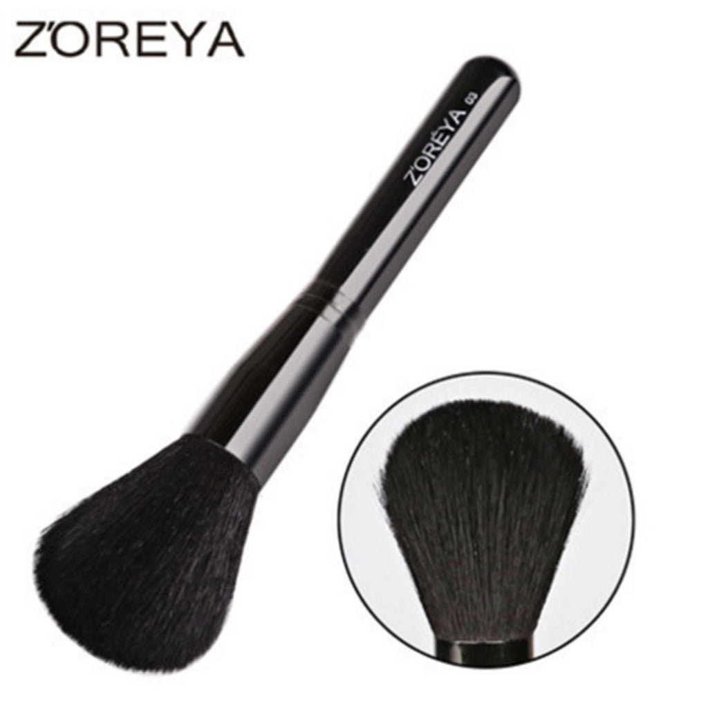 Goat Hair Makeup Brush, Powder Brush, Blush Brush. ZY011