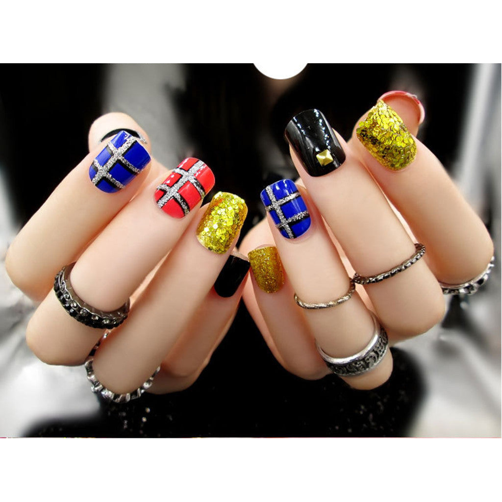 Fake Nails, 24pcs, YT004-C25