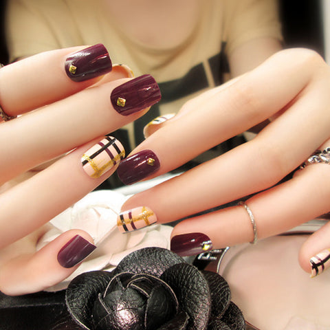 Fake Nails, 24pcs, YT004-C35