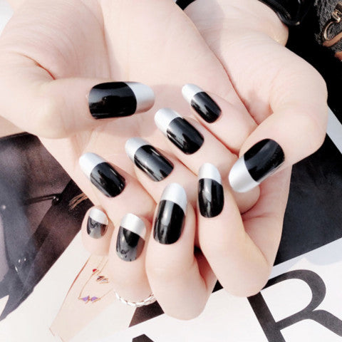 Very Cool Black Fake Nails