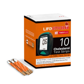 Lifesmart - 1 Box of Cholesterol Test Strips - 10 Strips