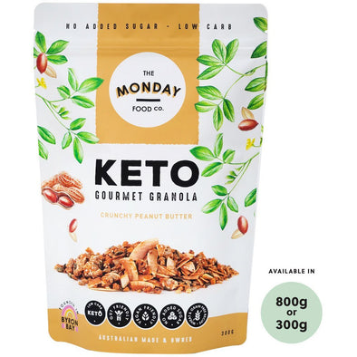 Keto Crunchy Peanut Butter Granola  - 300g or 800g - Ketogenic Supplies