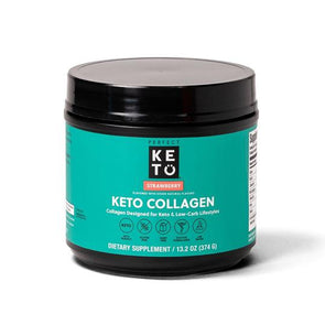 Keto Collagen Low Carb Protein with MCT - Strawberry 374g