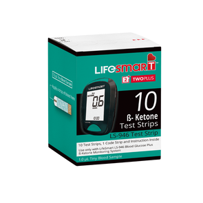 Lifesmart - 1 Box of Ketone Test Strips - 10 Strips - Ketogenic Supplies