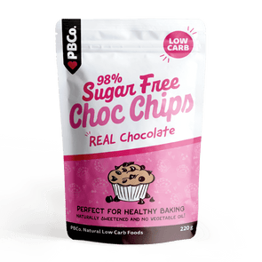98% Sugar Free Choc Chips PB Co 220g