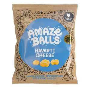 Amazeballs - Keto Cheese Snacks - Havarti 50g - Ketogenic Supplies