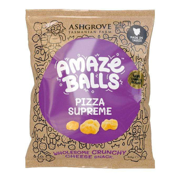 Amazeballs - Keto Cheese Snacks - Pizza Supreme 40g - Ketogenic Supplies