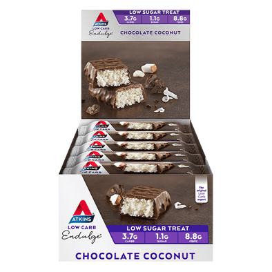 Atkins Keto Bar Atkins Indulge Bar - Choc Coconut - Box of 15 - 600g