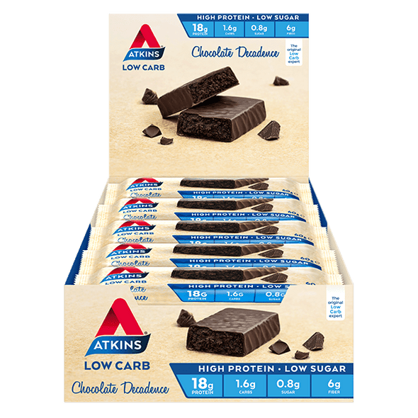 Atkins Keto Protein Bar Atkins Protein Bar - Chocolate Decadence - Box of 15 - 900g