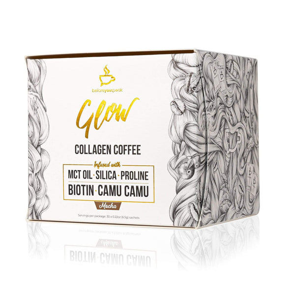 Glow Collagen Coffee - Mocha 30 Sachets - Before you Speak - Ketogenic Supplies