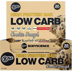 BSC Protein Bar BSC Low Carb Protein Bar - Cookie Dough -  Box of 12 x 60g