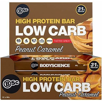 BSC Protein Bar BSC Low Carb Protein Bar - Peanut Caramel - Box of 12 x 60g