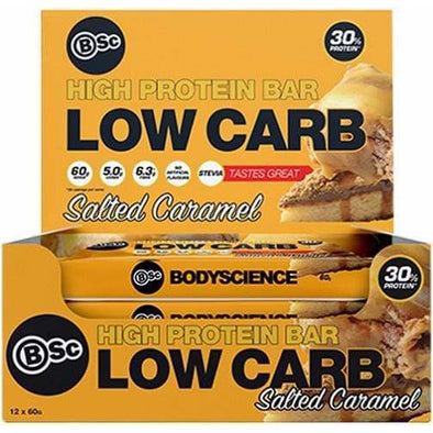 BSC Protein Bar BSC Low Carb Protein Bar - Salted Caramel - Box of 12 x 60g