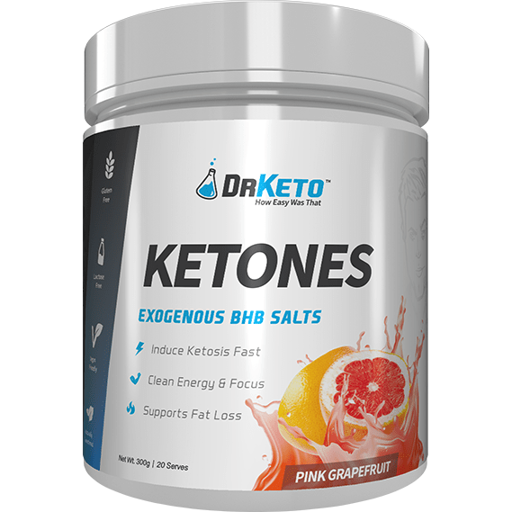 Dr Keto Exogenous BHB Ketones - Pink Grapefruit - Ketogenic Supplies