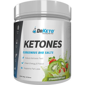 Dr Keto Exogenous BHB Ketones - Strawberry Kiwi 20 Serves 300g - Ketogenic Supplies