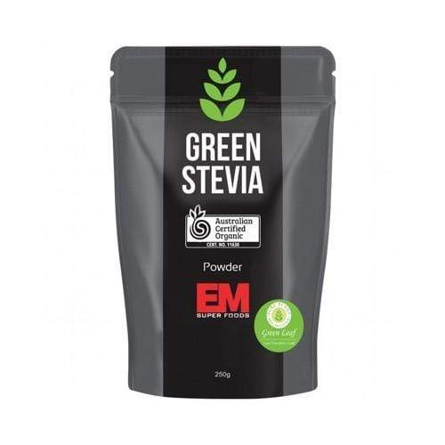 Organic Green Stevia 250g   EM Superfoods - Ketogenic Supplies